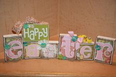 Easter Sign/Easter Blessings Easter Blocks Happy by Tweetfeathers, $38.50
