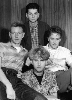 Depeche Mode circa 1980's, Dave Gahan, Martin Gore, Andy Fletcher, Alan Wilder.
