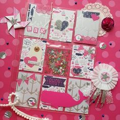 """Pocket letter created by """"Little Hot Tamale"""" using DCWV Ocean Breeze Stack. ♡"""