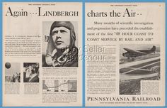 1929 Transcontinental Air Transport Ford Tri- Motor Charles Lindbergh TAT PRR Ad