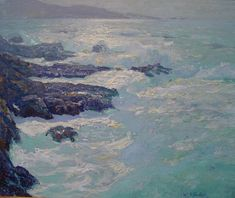 "William Ritschel, ""Seafoam and Rocks"", 25 x 30 inches"