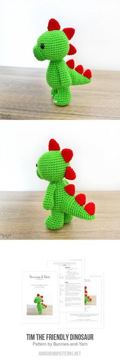 Tim The Friendly Dinosaur Amigurumi Pattern