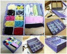 Einfache DIY Karton Drawer Divider Aufbewahrungsbox