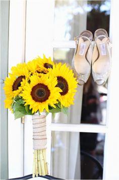 Sunflower wedding bouquet NJ