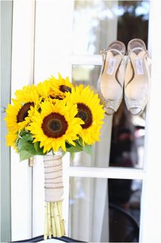 Sunflower wedding bouquet NJ
