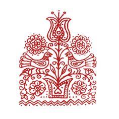 This Pin was discovered by Dud Hungarian Embroidery, Folk Embroidery, Vintage Embroidery, Embroidery Patterns, Machine Embroidery, Folk Art Flowers, Flower Art, Scandinavian Folk Art, Lesage