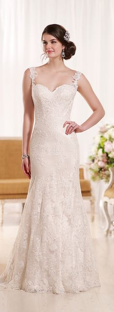 lace straps - Wedding dress by Essense of Australia Spring 2016 Bridal Collection