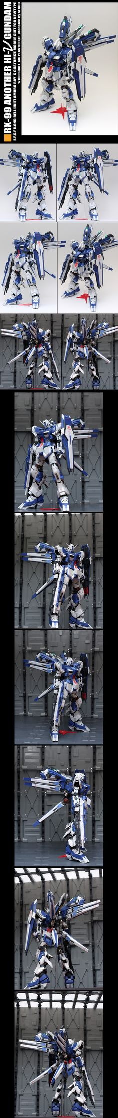 [MG 1/100] RX-99 ANOTHER Hi-Nu Gundam: Masterpiece, modeled by SENDO. Full Photoreview Wallpaper Size Images