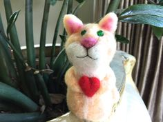 Needle felted Cat needle felted Kitten felting cat by Felt4Soul