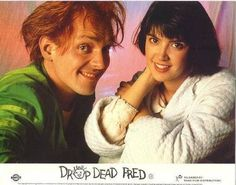 Drop Dead Fred played by Rik Mayall & Snot Face AKA Elizabeth 'Lizzie' Cronin played by Phoebe Cates in Drop Dead Fred Movies Showing, Movies And Tv Shows, Smelly Dog, Rik Mayall, Phoebe Cates, Movie Couples, Music Tv, Film Movie, Back In The Day