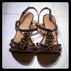 Brown Women's Nature Sandals Worn less than a handful of times.  In great condition Nature  Shoes Sandals