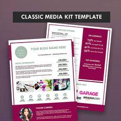 Classic Blog Media Kit + Ad Rate Sheet -  Press Kit -  Pitch Kit - Blog…