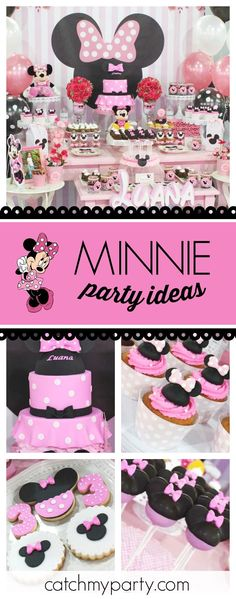 Take a look at this gorgeous Pink Minnie Mouse Birthday Party! The Minnie Mouse cake pops are so cool!! See more party ideas and share yours at CatchMyParty.com #catchmyparty #partyideas #minniemouse #girlbirthdayparty