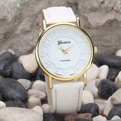 Relogios Feminino Geneva Watch Women Watches Fashion Quartz Leather Young Sports Women watch Casual Dress Clock