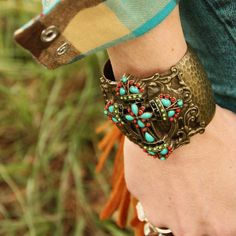 Mayan Cross Cuff Bracelet by Sweet Romance
