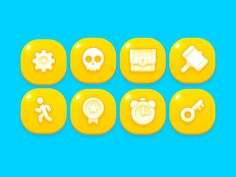 GUI Kit Yellow Kids Icon designed by LayerLab. Connect with them on Dribbble; Game Ui Design, App Design, Icon Design, Game Gui, Game Icon, Ui Buttons, Game Buttons, Mobile Icon, Mobile Game