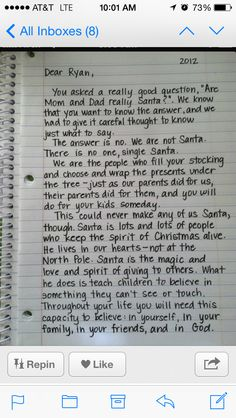 How to tell your children about Santa when the time is right.