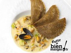Ravioles de blé noir aux fruits de mer Plus French Food, Empanadas, Fodmap, Crepes, Hummus, Entrees, French Toast, Gluten, Breakfast