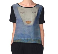 'Sea Of The Lonely' Women's Chiffon Top available at http://www.redbubble.com/people/chrisjoy/works/21852692-sea-of-the-lonely