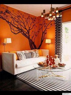 vägg,väggmålning,träd