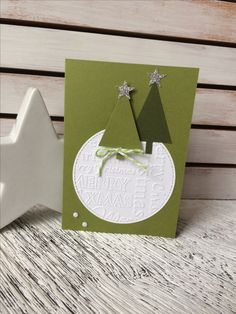Homemade Christmas Cards, Stampin Up Christmas, Christmas Time, Christmas Crafts, Christmas Decorations For Kids, Cool Cards, Xmas Cards, Scrapbook Cards, Cardmaking