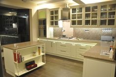 E Shaped Modular Kitchen Designer in Agra - Call Agra Kitchens for your E Shaped Kitchen Floor Plan design consultation in Agra, we will help you to create the Kitchen of your dreams.