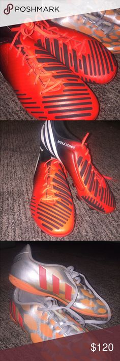 newest collection b4b74 cd707 Soccer cleats These adidas soccer cleats are amazing. The ones on the right  (Orange