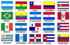 las banderas de todos los paises y sus nombres