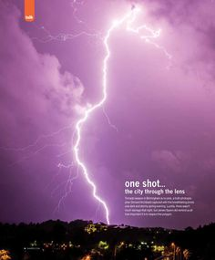 One Shot...Tornado Season Tornado season in Birmingham is no joke, a truth photographer Ginnard Archibald captured with this breathtaking photo one dark and stormy evening.  June 2014  #Lightning