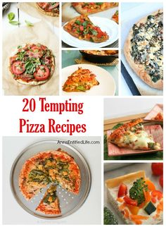 20 Tempting Pizza Recipes; pizza lovers rejoice! From pepperoni to pineapple, from casseroles to sandwiches, these 20 Tempting Pizza Recipes are oozing with delicious goodness in every single bite!
