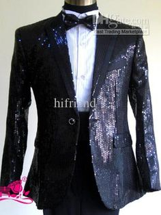 custom - made men's suit Jacket+pants Sequins wedding tuxedos groom tuxedo 218