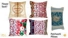 Potential patchwork, batik, and flour sack pillows! #GlobalMamas #FairTradeFashion #Ghana