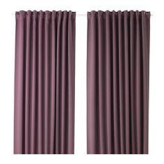 MAJGULL Sötétítőfüggöny-pár IKEA A sötétítő függöny sepciális bevonatának köszönhetően a fény nem hatol át rajta.