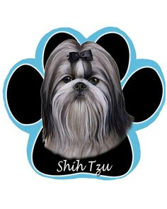 Why not take your favorite pet with you to work? With this Black and White Shih Tzu Dog Paw mouse pad, you can! A must have for the dog loving computer user.featuring an adorable photo of a Black and