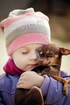 TOP 10 Heartwarming Photos Of Children With Their Pets
