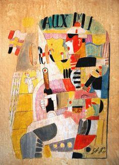 Avant-Garde Russian Abstract painting: Kazimir Malevich Unovis Studio #Cubism