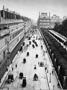 Adolphe Braun Paris, Rue de Rivoli c. Old Paris, Vintage Paris, Paris Rue, Belle Epoque, Old Pictures, Old Photos, Paris France, Rue Rivoli, Palais Des Tuileries