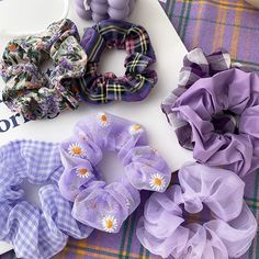 Lavender Aesthetic, Purple Aesthetic, Aesthetic Beauty, Mode Purple, Diy Hair Scrunchies, Elastic Hair Bands, Hair Accessories For Women, Purple Accessories, Purple Hair