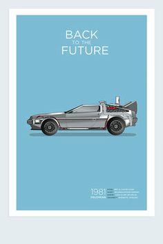 Exclusive Back to the Future DeLorean Poster - Calm the Ham - Home Decor : Thrillist