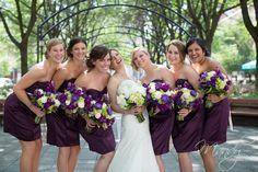 purple bridesmaids; Mandy Paige Photography Cincinnati