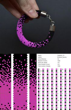 Bead crochet pattern ombre seed bead bracelet tutorial pdf beading master Class jewelry make necklace Crochet Rope tutorial geometric – Seed Bead Tutorials Crochet Bracelet Pattern, Crochet Beaded Bracelets, Beaded Necklace Patterns, Bead Crochet Patterns, Bead Embroidery Patterns, Bead Crochet Rope, Seed Bead Patterns, Beading Patterns, Beaded Bead