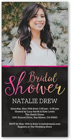 Expressive Script 4x8 Photo Card by Shutterfly
