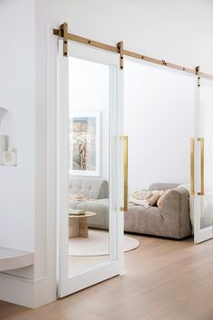 Detailed double doors—House 10. By Three Birds Renovations x Sophie Bell, featuring Dulux White on White.