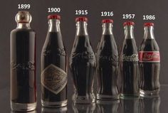 Coca cola through the ages. I dont know what I would do without my coke!!