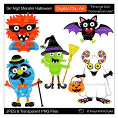 clip art digital clipart hero witch ghost bat  by peachpopsclipart, $5.00