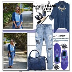 Denim Look by stylemoi-offical on Polyvore featuring moda, NIKE, Chanel and stylemoi