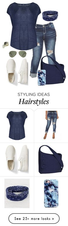 """""""Throw your hair up in a bun- plus size"""" by gchamama on Polyvore featuring Almost Famous, Samya, Gap, OGIO and BKE"""