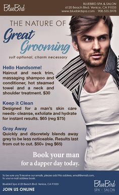 Great Grooming Ready-To-Wear Men's Salon Marketing Campaign