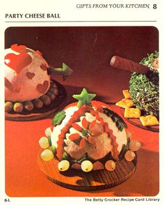Party Cheese Ball.  Greet your New Year's Eve hostess with this.  She'll be so grateful.  (Betty Crocker, 1971)