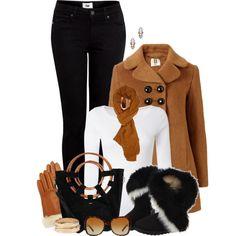 White Stuff t-shirt, Orla Kiely coat, and Paige Denim jeans.